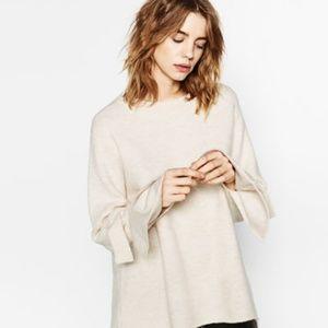 Zara tie sleeves sweater